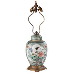19th Century Impressively Decorated Chinese Jar Converted to a Lamp
