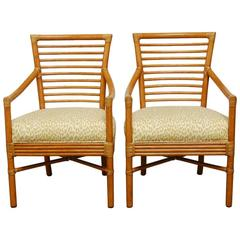 Pair of Bamboo Armchairs by Christopher Roy for McGuire