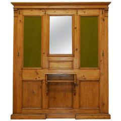 French Pine Entry Hall Stand or Coat Tree