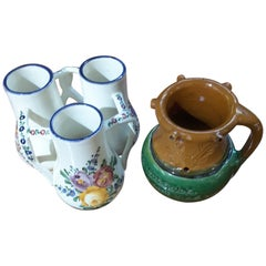 Pair of Drinking Game or Puzzle Vessels, Early 20th Century