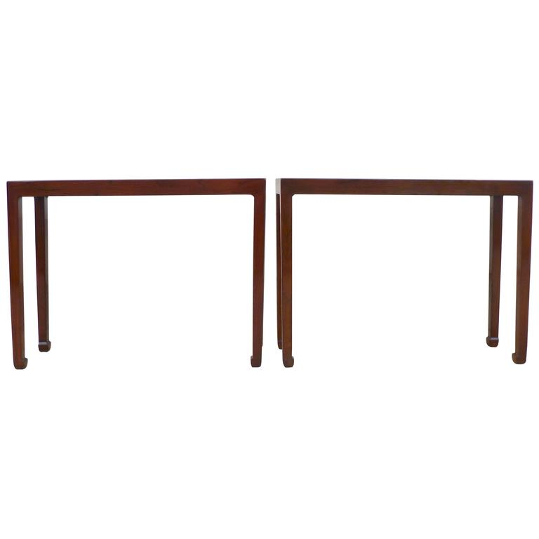 Pair of Fine Jumu Console Tables For Sale