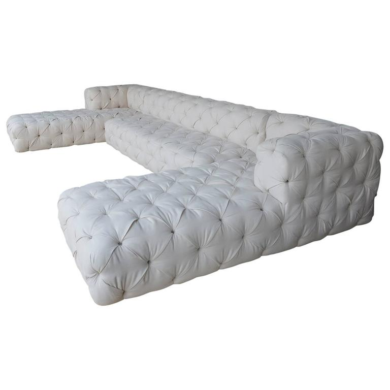 large tufted sofa for sale at 1stdibs On tufted couches for sale
