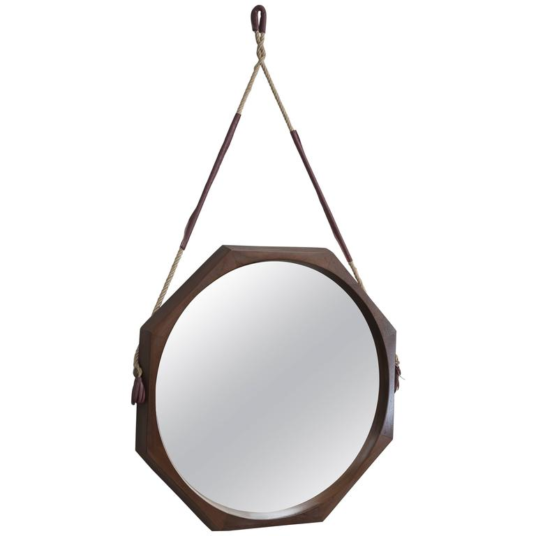 Swedish Rosewood Wall Mirror For Sale