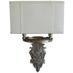 American 1970s two-candle sconce