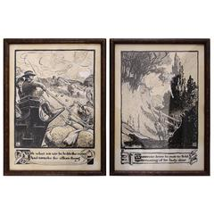 Pair of James Fergus Kyle Paintings
