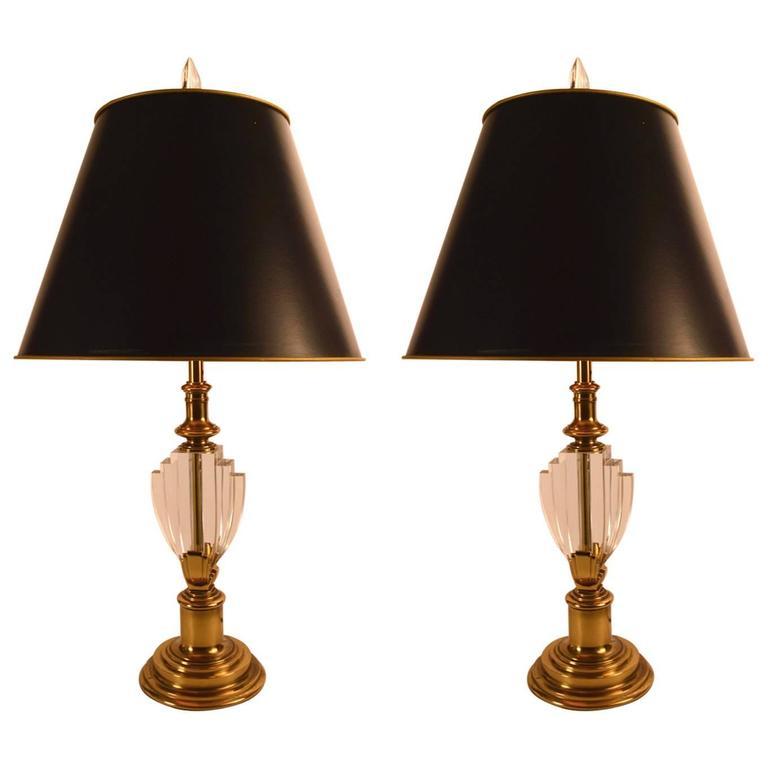 Elegant Pair of Hollywood Regency Stiffel Lamps