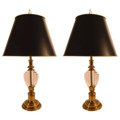 Elegant Pair of Hollywood Regency Stiffel Lamps