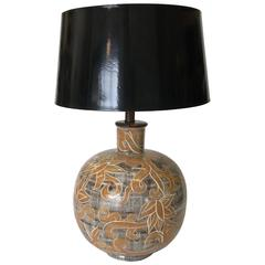 Large Mid-Century Modern Art Pottery Lamp