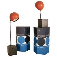 Michael Lax Lytegem Lightolie, Pair of Telescopic Eyeball Tasks Lamps in Box
