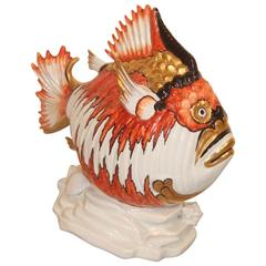 Fish in the 1970s Porcelain Fiorentina School