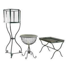 "1940s ""Jardin d'Hiver"" Conservatory Furniture Set from Madeleine Castaing Shop"