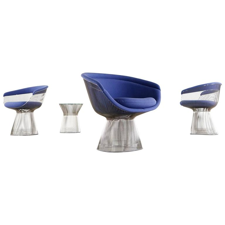 Warren Platner Lounge Chair For Knoll International, 1966 For Sale