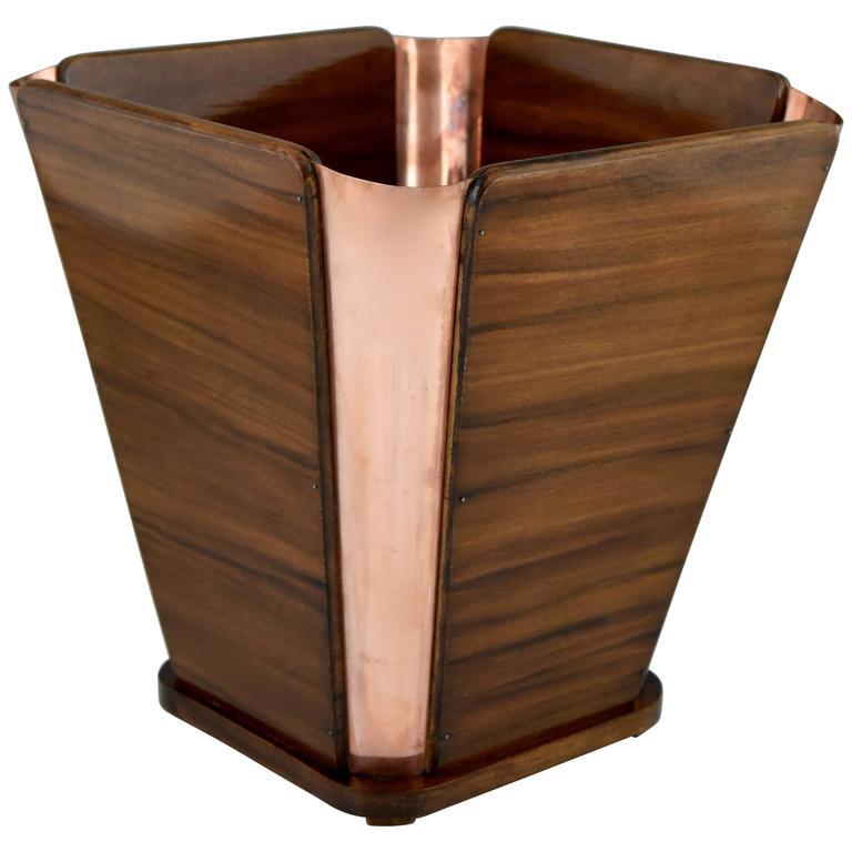 Émile-Jacques Ruhlmann Art Deco Waste Paper Basket, 1930