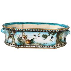 Theodore Deck, Jardiniere with Roosters, circa 1870