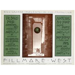 "Original Bill Graham Music Concert Event Poster ""Fillmore West San Francisco"""