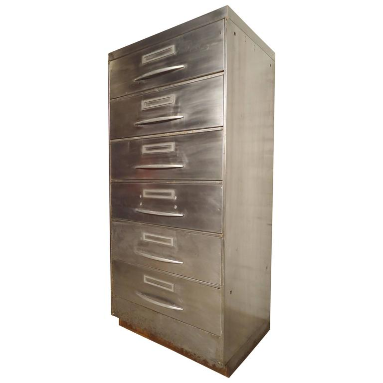 Unique File Cabinet with Industrial Finish