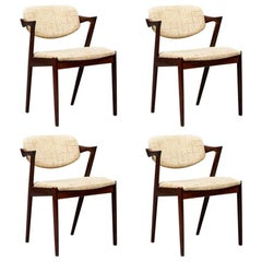 Rosewood Chairs by Kai Kristiansen Model 42