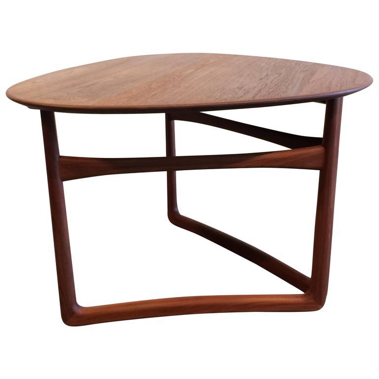 Orla Retro Coffee Table: Peter Hvidt And Orla Mølgaard-Nielsen Teak Side Coffee