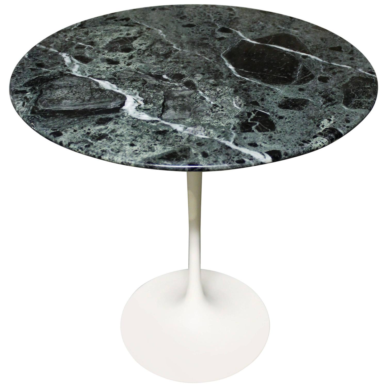 Eero Saarinen Tulip Side Table For Knoll With U0027Verdi Alpiu0027 Green Marble Top  At 1stdibs