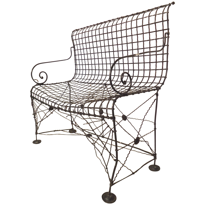Decorative Wrought Iron Bench