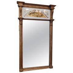 Neoclassical Églomisé Panel Mirror, circa 1800