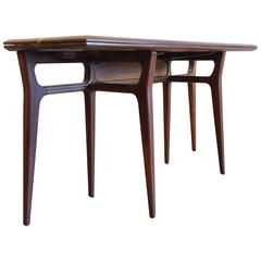 Walnut Flip-Top Console Table in Style of Gio Pont, Dining Table, 1950s