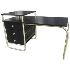 Warren McArthur 1930s Aluminum Reversible Desk