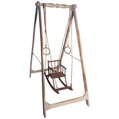 Early 19th Century, French Child's Wooden Swing