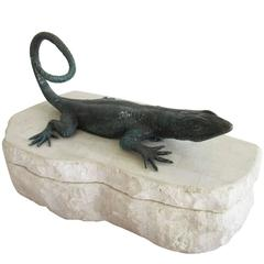 Vintage Maitland-Smith Lizard Box