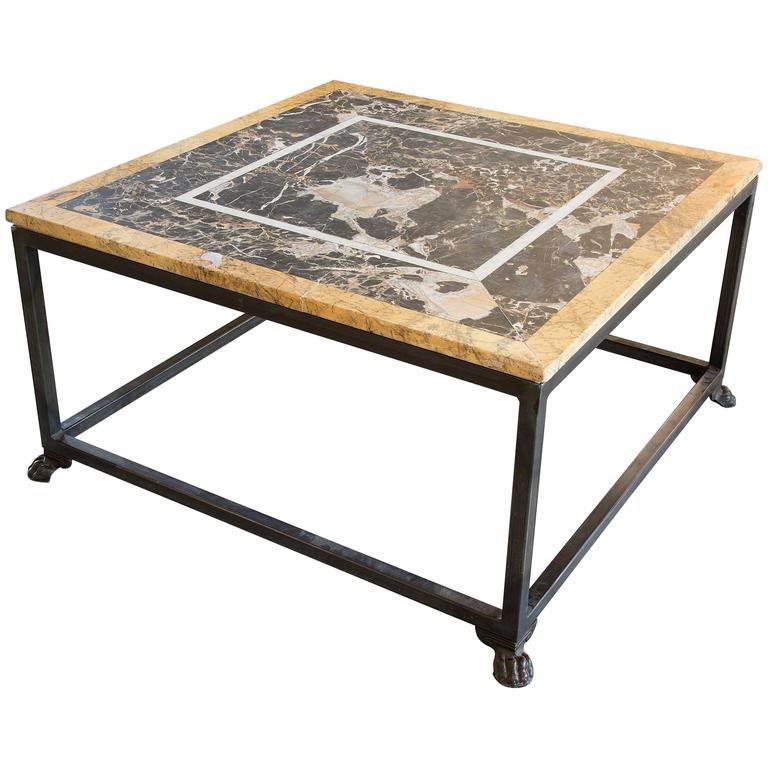 Vintage Italian Marble Coffee Tabletop 1