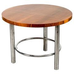Art Deco Walnut Coffee Table by Mucke Melder for Thonet, Czechoslovakia, 1930s