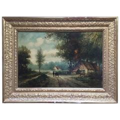 19th Century French large hand Painted Porcelain Plaque