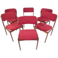 O D M¸bler Denmark Dining Room Chairs 6 For Sale at 1stdibs