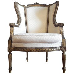 Antique French Bergere Louis XVI Style Napoléon III Period