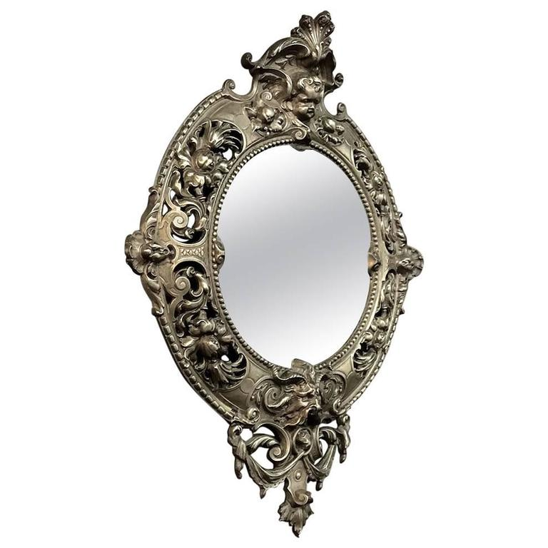 19th century cast bronze french baroque vanity mirror at On baroque vanity mirror