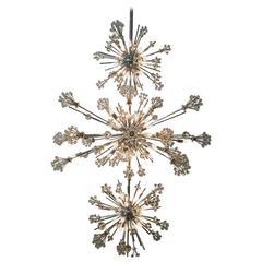 Three-Tiered Custom Crystal Chandelier in Style of Lobmeyr
