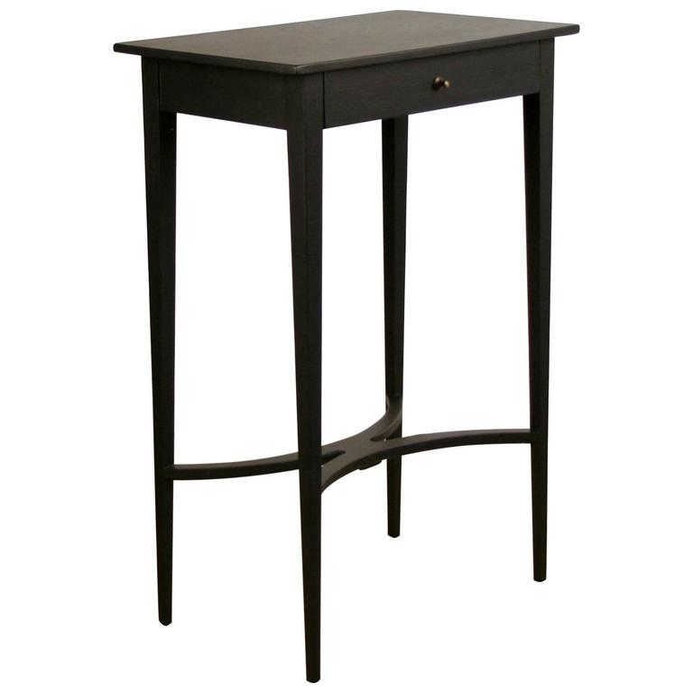 tall black side table with drawer for sale at 1stdibs. Black Bedroom Furniture Sets. Home Design Ideas