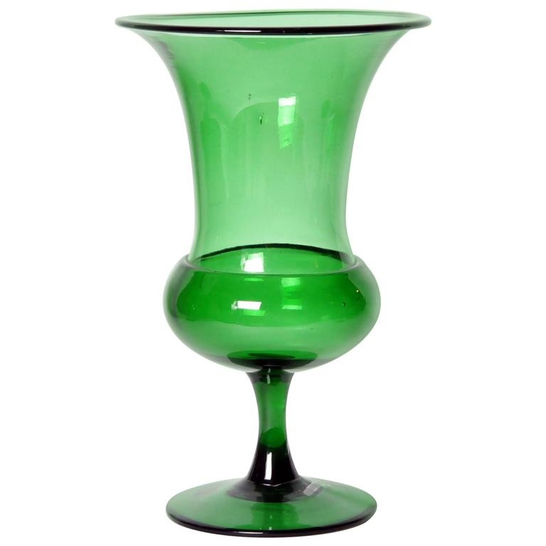 green empoli glass vase for sale at 1stdibs. Black Bedroom Furniture Sets. Home Design Ideas