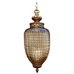 Elegant 1960 Glass Light