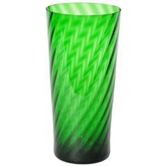 Green Empoli Patterned Glass Vase