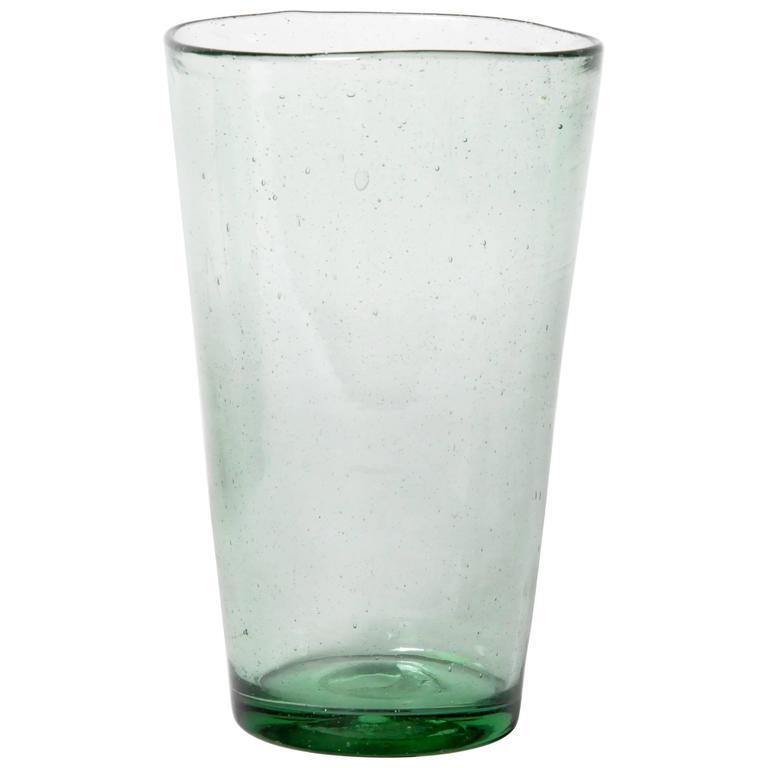 "Green Empoli ""Bubble"" Glass Vase"