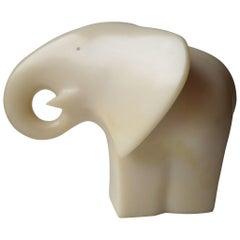 "Masatoyo Kishi ""Signed Kuki"" Modern Abstract, Elephant Resin Sculpture"