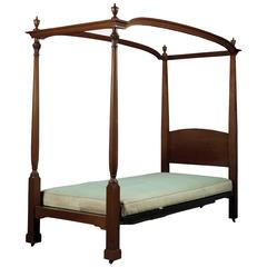 Mahogany Four Poster Single Bed