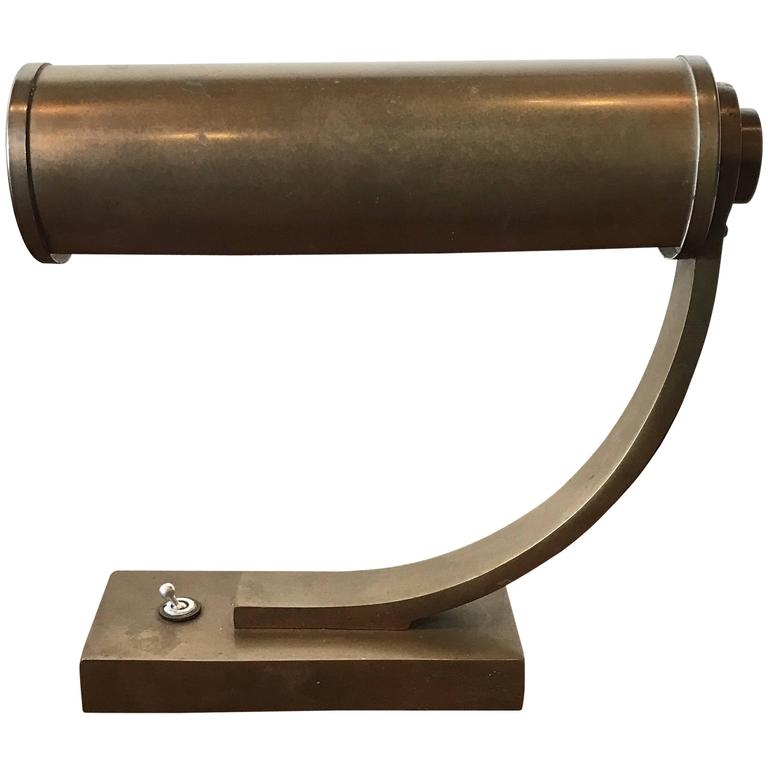 Brass Machine Age Desk Lamp 1