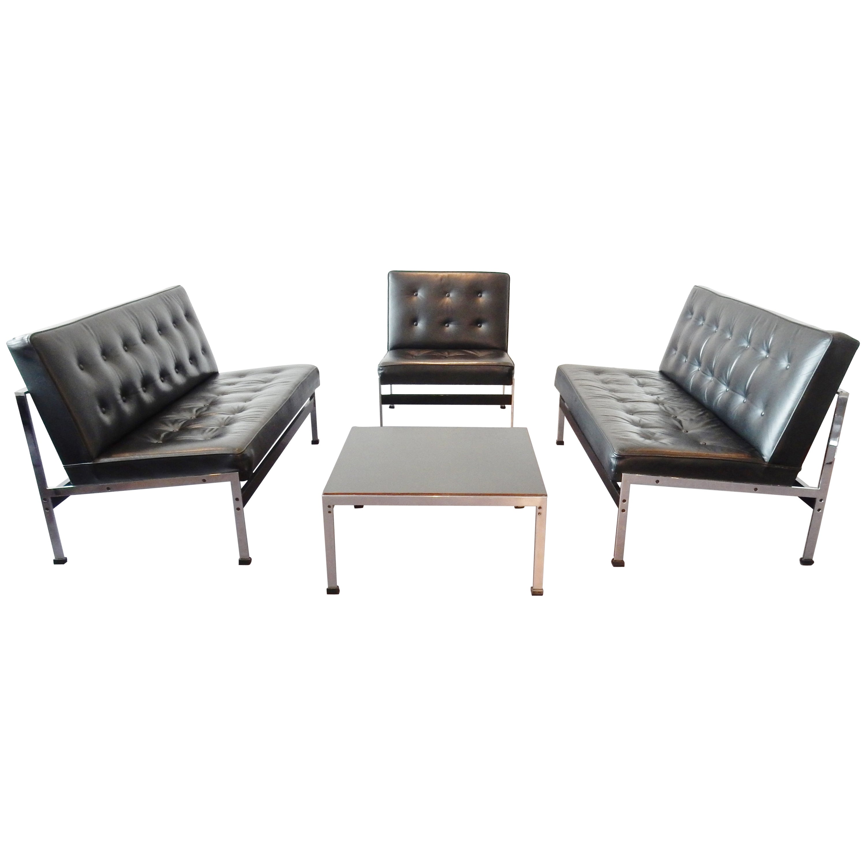 Rare '020 Series' Seating Group by Kho Liang Ie for Artifort, Netherlands, 1958