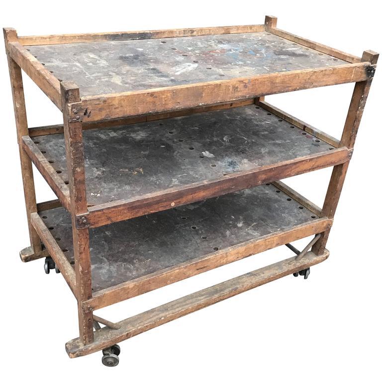 1920s-1930s Shoe Rack or Cart 1