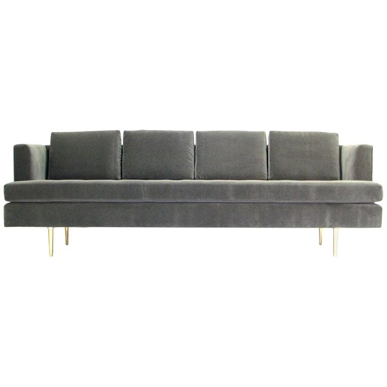 Stunning Mid-Century Dunbar Sofa by Edward Wormley in New Fabric For Sale