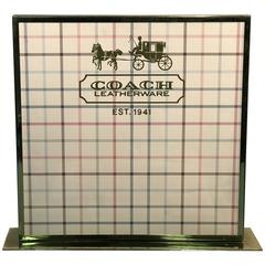 Fabulous COACH Advertising Window Display Sign in Brass