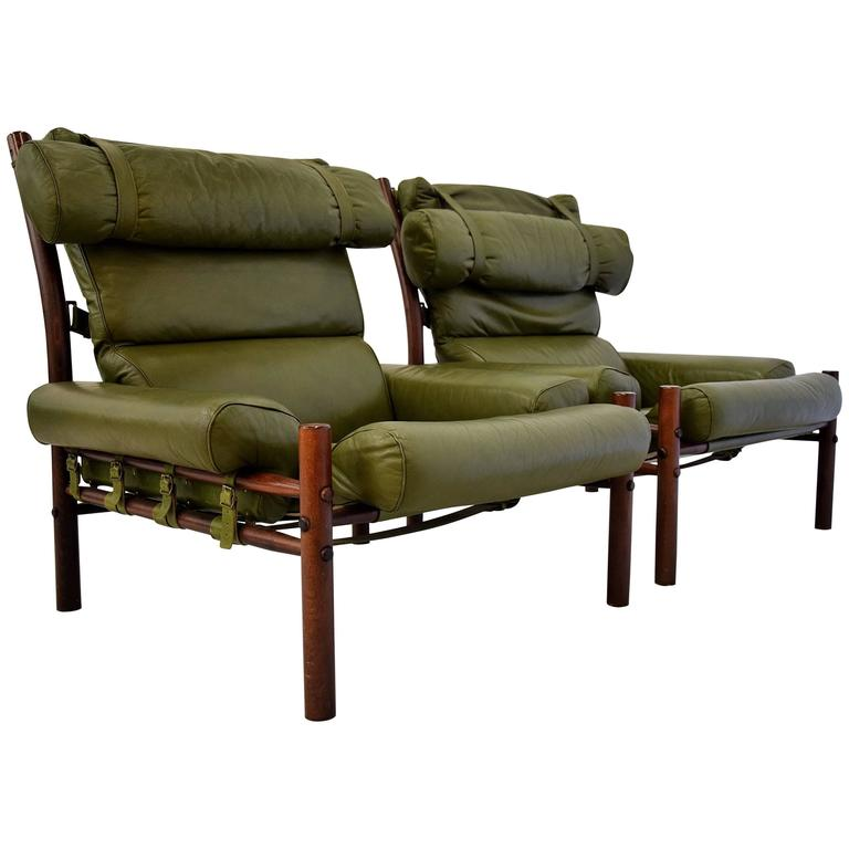 Arne Norell Inca Lounge Chairs, 1960s