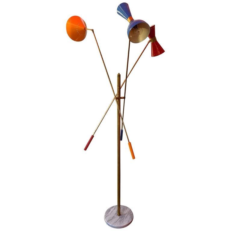 Beautiful Italian Floor Lamp In The Style Of Stilnovo For